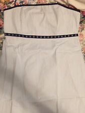 vineyard vines 14 Strapless Blue Stripe Dress with Nautical Detail