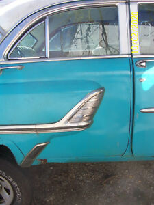 1955 MONTEREY RIGHT REAR DOOR SHELL -  NO TRIM - NO GLASS USED OEM ORIG MERCURY