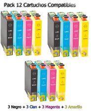 12x tinta cartuchos para Epson Stylus s22 sx125 sx130 sx230 sx235w sx430 sx445