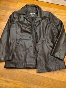 Wilsons Maxima Genuine Vintage Brown Leather Jacket Nylon Lining Women's L