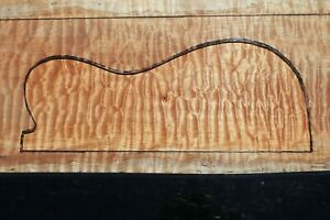 """SPALTED QUILTED MAPLE 21 7/8"""" X 11 1/8"""" X 1 7/8"""" GUITAR, LUTHIER, CRAFT, SCALES"""