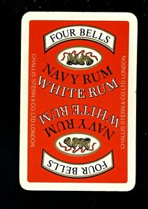ONE BREWERY SWAP PLAYING CARD FOUR BELLS NAVY RUM WHITE RUM