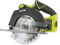 Saw Circular w/Blade Ryobi P507 One+18V Lithium Ion Cordless 6 1/2Inch 4700 RPM