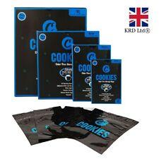 6 12 COOKIES ODOR FREE BAGS Smell Proof Baggies Food Bag Grip Zip lock Stash UK