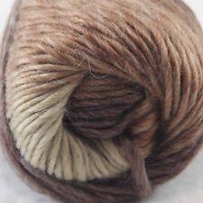 SALE 1ballx50g NEW Chunky Colorful Hand Knitting Wool Yarn Dark Brown Sand Beige