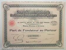 Part de Fondateur : Ste minière et industriel des dérivés arsenicaux ... ( 551 )