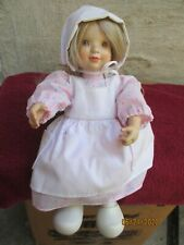 Anri Italy Sarah Kay Valentine Doll-Jointed-Ltd Edition #436/1,000-Wood Carved