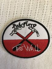 "3"" Oval PINK FLOYD The Wall Iron On Embroidered Patch Free Shipping Roger Waters"