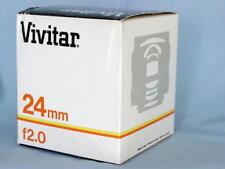 PENTAX K VIVITAR KIRON 24mm F2 LENS NEW IN BOX RARE