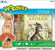 New Woodsies Childs Kit Little Golden Books Baby Farm Animals Create and Read