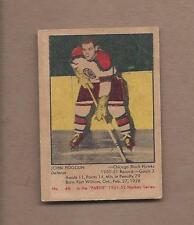 1951-52 Parkhurst hockey card #46 John Fogolin, Chicago Blackhawks VGEX clean bk