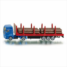 NEW SIKU 1659 BLISTER PACK MAN Truck with Forestry Trailer & Logs Diecast Model