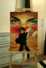MICHAEL JACKSON Arabian Nights Original OIL painting fine art Egypt Pyramids