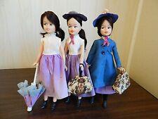"Lot of 3 Vintage 1960s Horsman MARY POPPINS 11.5"" Vinyl Dolls"