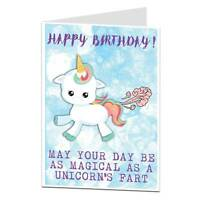 Unicorn Happy Birthday Card Funny Farts Theme Gift Things Ideas For Her