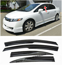 EOS Visors JDM Mugen II Style Side Window Deflectors For 06-11 Honda Civic Sedan