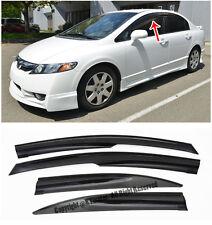 For 06-11 Civic Sedan Mugen ll Style Side Vent Sun Shade Guard Window Visors JDM
