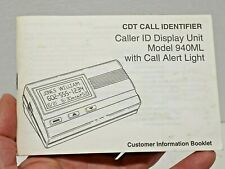 Vtg Pacific Bell Cdt Caller Id Identifier 940Ml Information Booklet