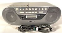 SONY BOOMBOX CD PLAYER AM/FM Radio Cassette Recorder CFD-S05 Mega bass