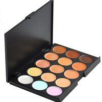 15 Color Sheer Concealer Camouflage Palette Makeup Eyeshadow Bronzer Set 35DI