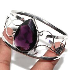 Amethyst 925 Sterling Silver Plated Bangle Gw