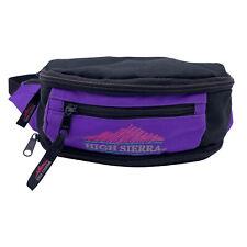 VTG 80s/90s High Sierra Outdoor Fanny Pack Hiking Waist Bag Backpack Purple