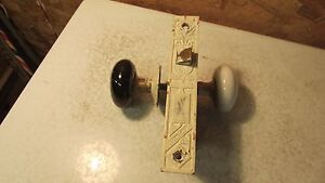 1877 R H co Eastlake Mortise Lock & Knobs