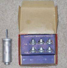 Cake Decorator Set Lorraine Aluminum Vintage Box Baking 6 Tips Patterns Used
