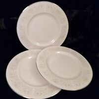 "Edgerton Fine China Plantation 3 Dinner Plates 10 5/8"" MINT USA"