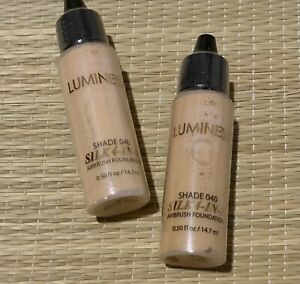 NEW/SEALED Set Of 2-Luminess Airbrush Silk 4-In-1 Shade 4 Foundations .50oz