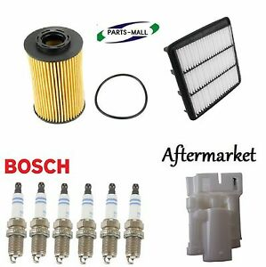 Tune Up Kit Air Oil Fuel Filters Spark Plugs for Hyundai Azera V6; 3.3L 2009