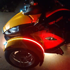 Red Amber 2x Dual Color LED Fender Channel Strip Can Am Spyder RS Light Flex