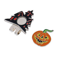Halloween Pumpkin Magnetic Golf Ball Marker Clip Onto Cap Visor Gift