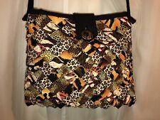 Pretty Black & Beige Leopard Point Handmade Handbag BAG Purse