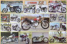 "YAMAHA MOTORCYCLES POSTER ""YAHAMA SR, 17 SHOTS"" - JAPANESE MOTORBIKES"