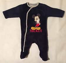 Baby Boys 0-3 Months Mothercare Disney Blue Mickey Mouse bodysuit Baby Grow
