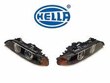 For BMW 528i 530i 525i E39 Pair Set of Left & Right Halogen Headlights Hella OEM