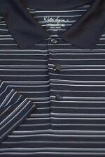 Walter Hagen Men's Gray Stripe Performance Wicking Golf Polo Shirt XXL 2XL