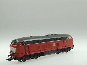 (87/611) Märklin H0 Locomotora Diésel Br 216 216 068-7 DB (Art Nr.3373) AC /