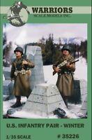 Warriors 1:35 US Infantry Pair Winter 2 Resin Figures Kit #35226