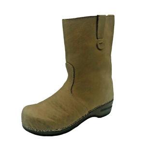Sanita Danish Light Tan Leather Clog Boots Size AUS/US 7 - EU 38