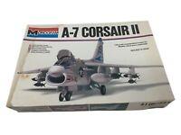 Vintage Monogram 1/48 scale #5418 A-7 CORSAIR II SH1 Aircraft Model Kit
