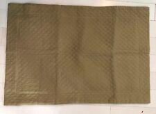 Restoration Hardware Khaki Gold Quilted Rectangle Cotton Pillow Sham Cover EUC