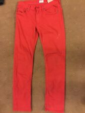 REPLAY age 12 (154cm) SLIM fit red TWILL JEANS