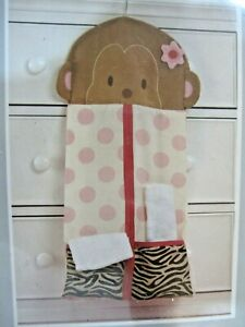 "Carter's Jungle Jill Collection Monkey Diaper Stacker w/Hanger 12"" x 25.5"" NEW!"