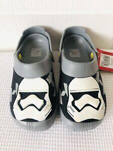 BNWT TU Boys Star Wars Water Shoes - Size 12-13 - Grey Black Garden Beach Clogs