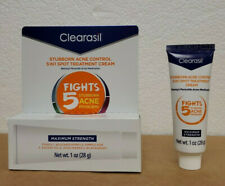 Clearasil Stubborn Acne Control 5 in 1 Spot Treatment Cream, 1 oz (Pack of 2) B