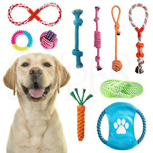 10Pcs Pet Dog Rope Chew Toy Set Puppy Durable Cotton Toys Clean Teeth