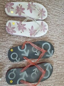 Mr & Mrs, His And Hers Wedding Matching Flip Flops just married gift