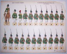 Original Schreiber Ausschneidebogen Deutsches Heer Garde Jäger Bataillon Parade